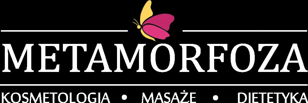 Metamorfoza logo białe