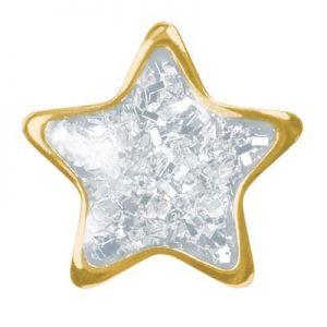 przekłuwanie uszu białka gwiazdka złoto