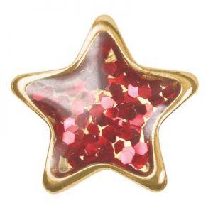 czerwona gwiazdka złoto
