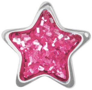 różowa gwiazdka srebro