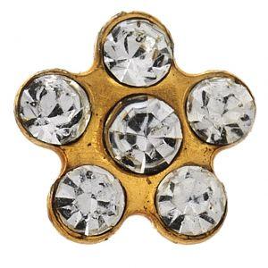 stokrotka z brylantem złota